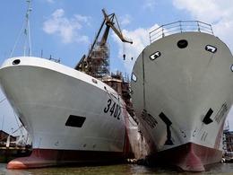中国用军舰改海警船 将部署东海南海