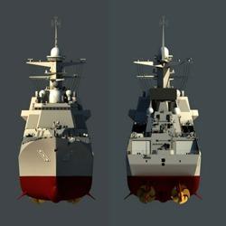 055万吨驱逐舰3号舰舰体合拢