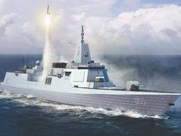 解放军055万吨驱逐舰最新CG照