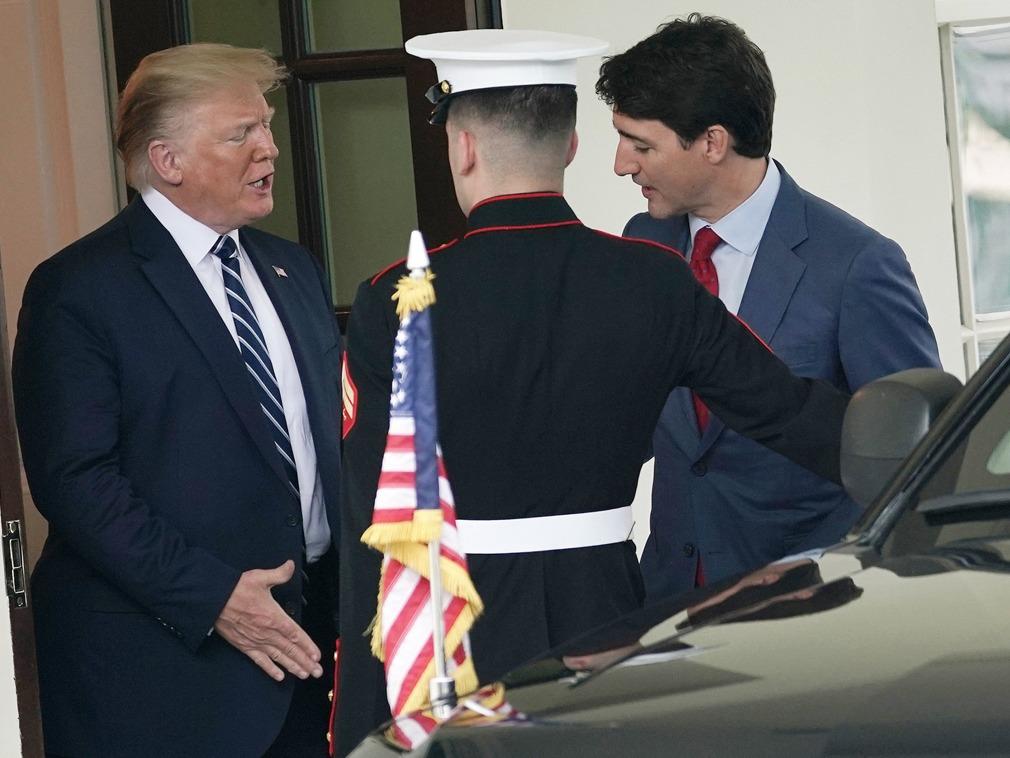 加拿大总理特鲁多会晤特朗普 中国是会谈主题[图集]