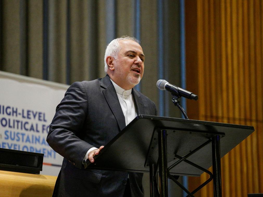 """伊朗外长在联合国指责美国实施""""经济恐怖主义""""[图集]"""